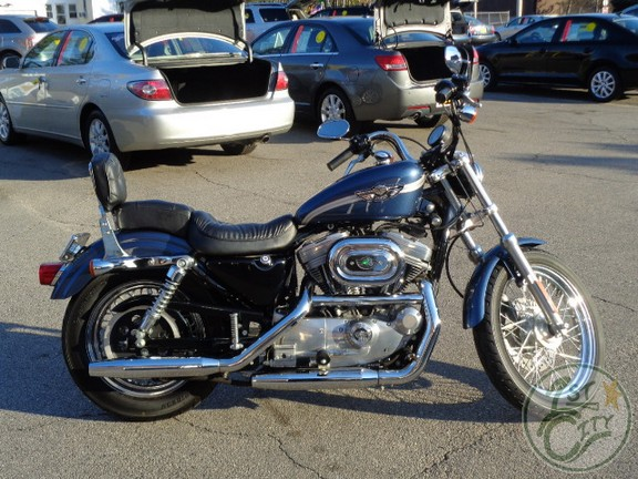 first city cars and trucks just traded 2003 harley davidson sportster 883 hugger 100th. Black Bedroom Furniture Sets. Home Design Ideas