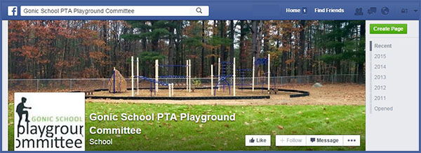 Gonic School PTA Playground Committee FB Page